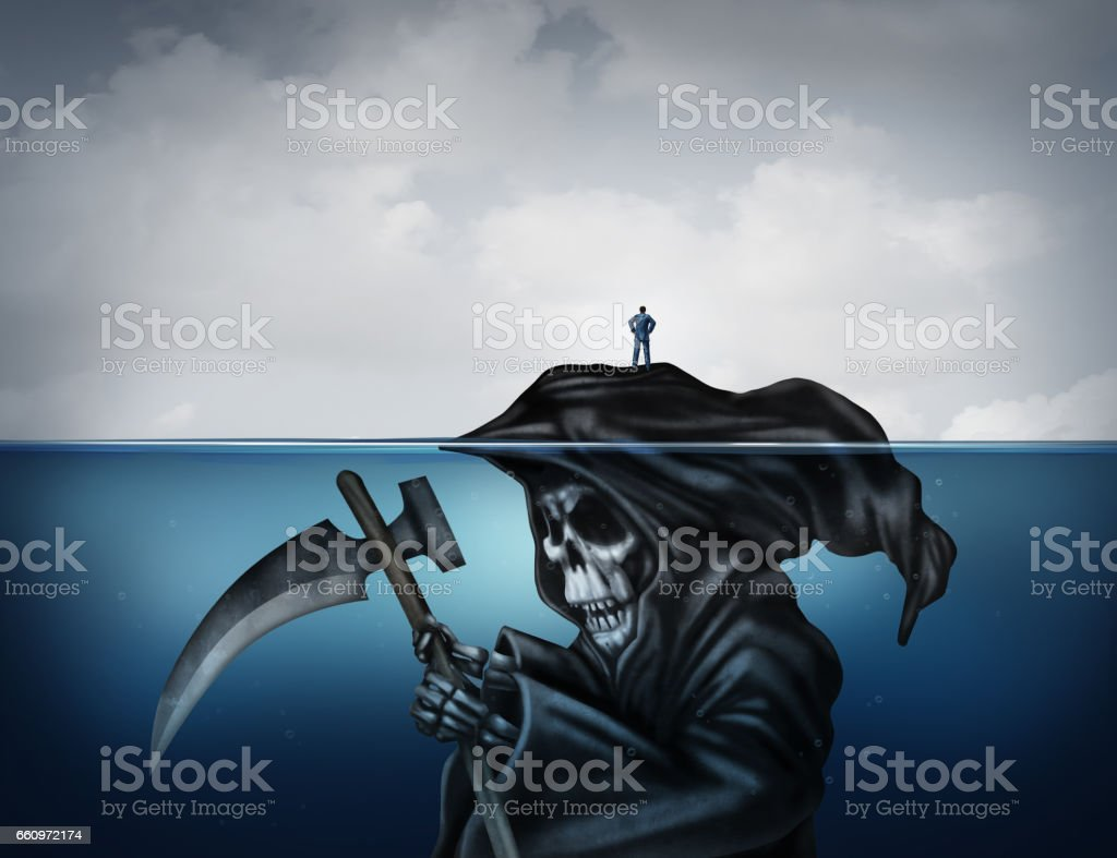 Death Is Looming stock photo