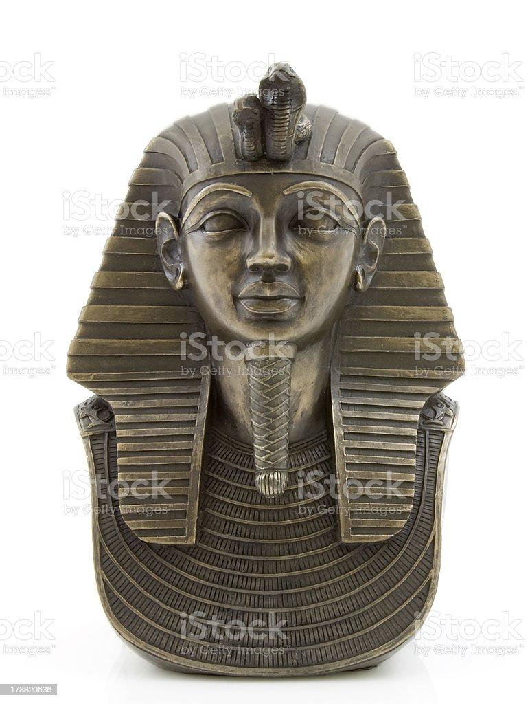 Death mask of Tutankhamun royalty-free stock photo