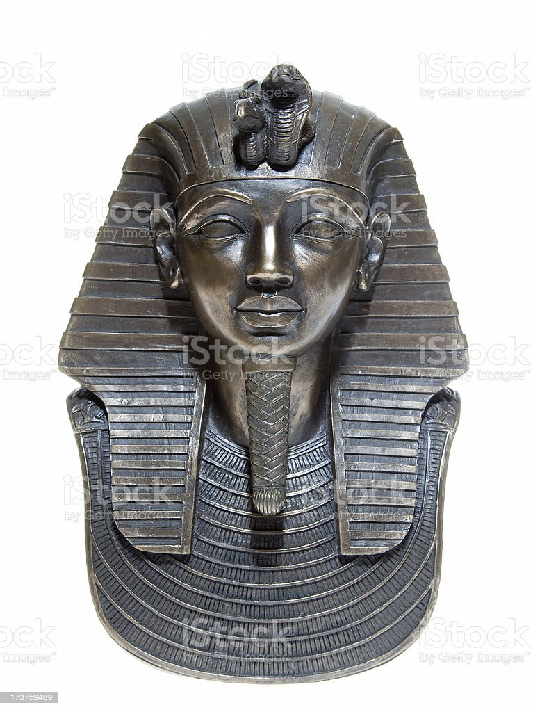 Death mask Tutankhamun royalty-free stock photo