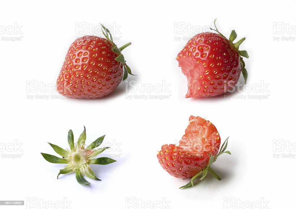 Death of a strawberry royalty-free stock photo