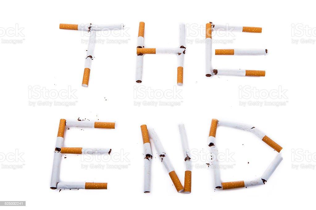 Death of cigarettes stock photo