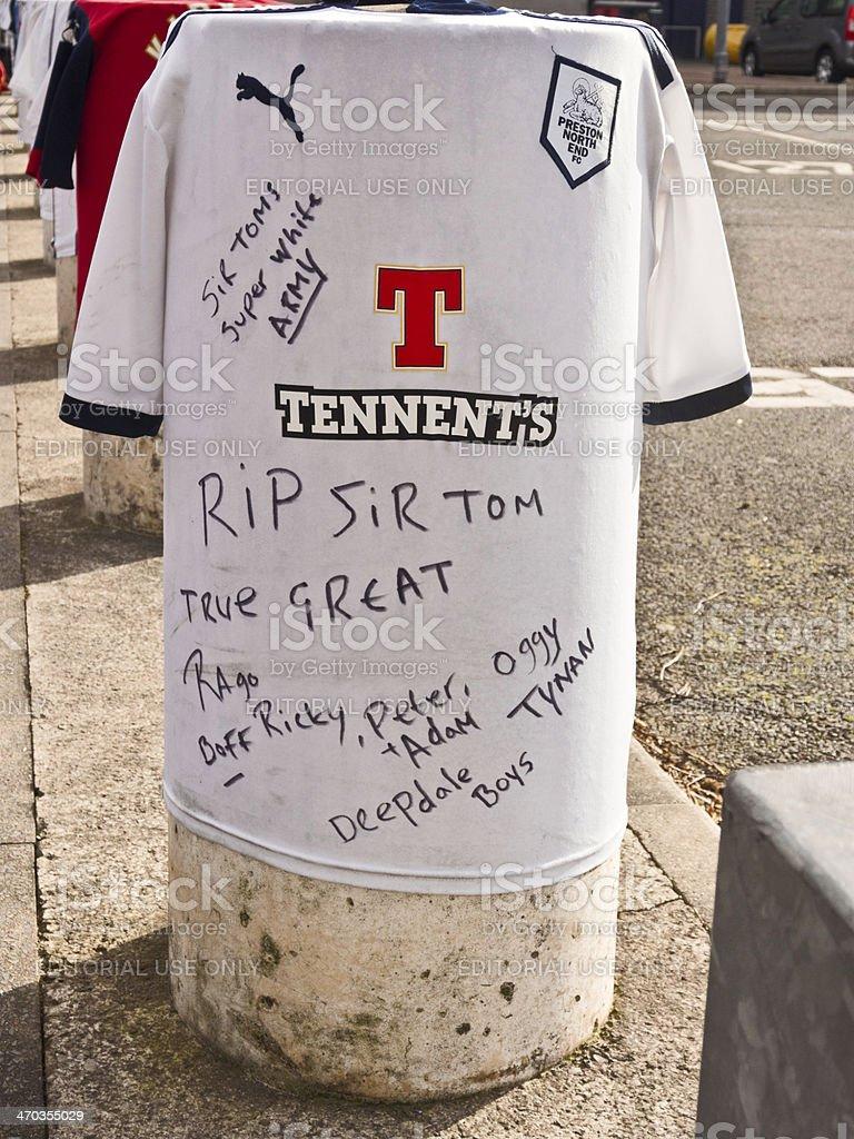 Death of football legend, Sir Tom Finney, stock photo