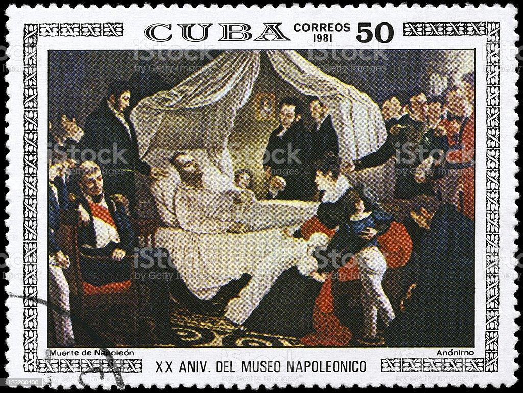 Death of Napoleon stock photo
