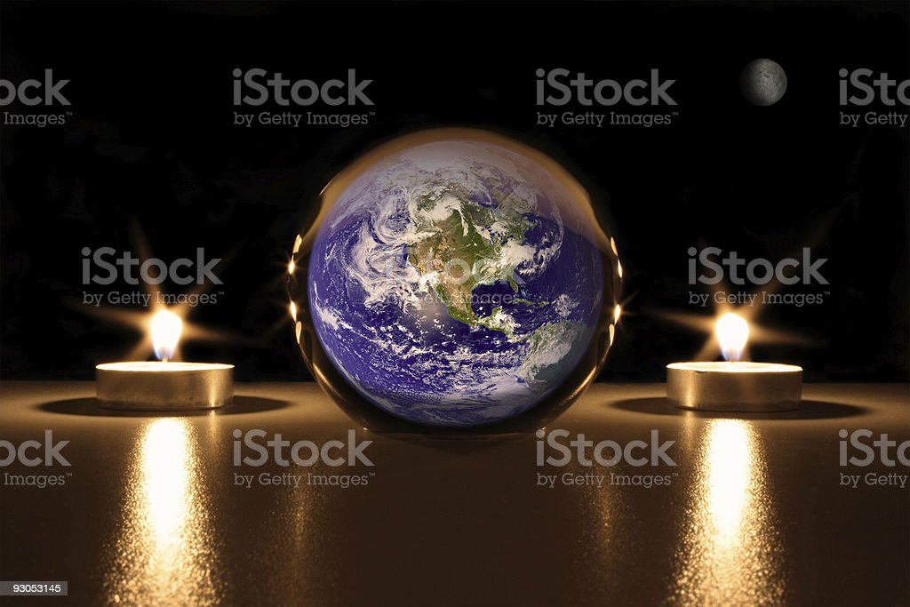 Death of Planet Earth royalty-free stock photo