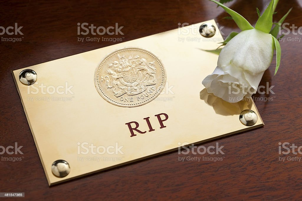 Death of Pound Sterling stock photo