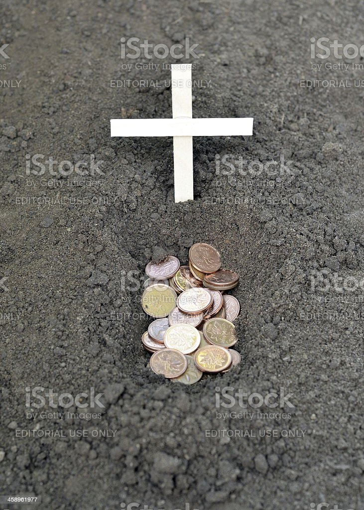 Death of the Penny royalty-free stock photo