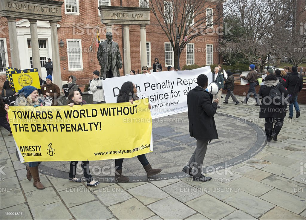 Death Penalty Protest in Maryland stock photo