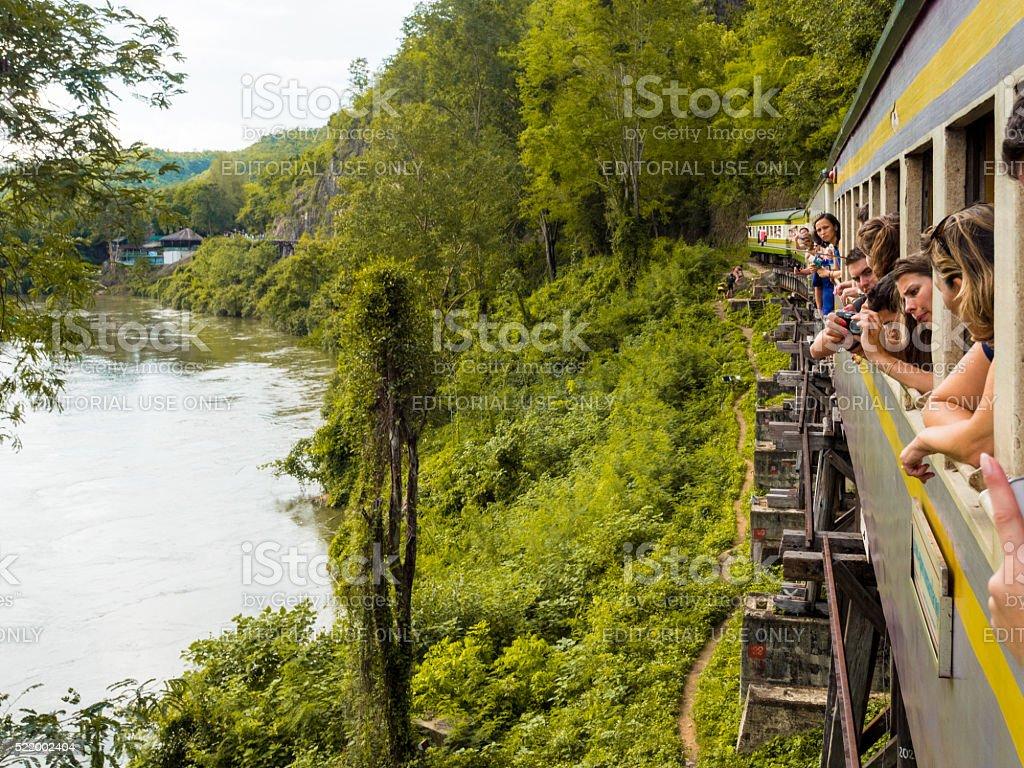 Death Railway in Kanchanaburi, Thailand stock photo