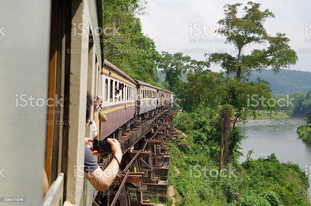 Muerte ferrocarril en el norte de Tailandia foto de stock libre de derechos