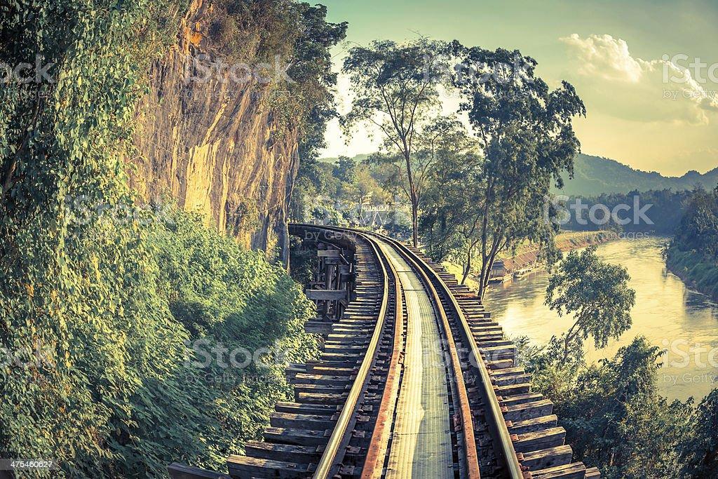 Death Railway in Thailand stock photo