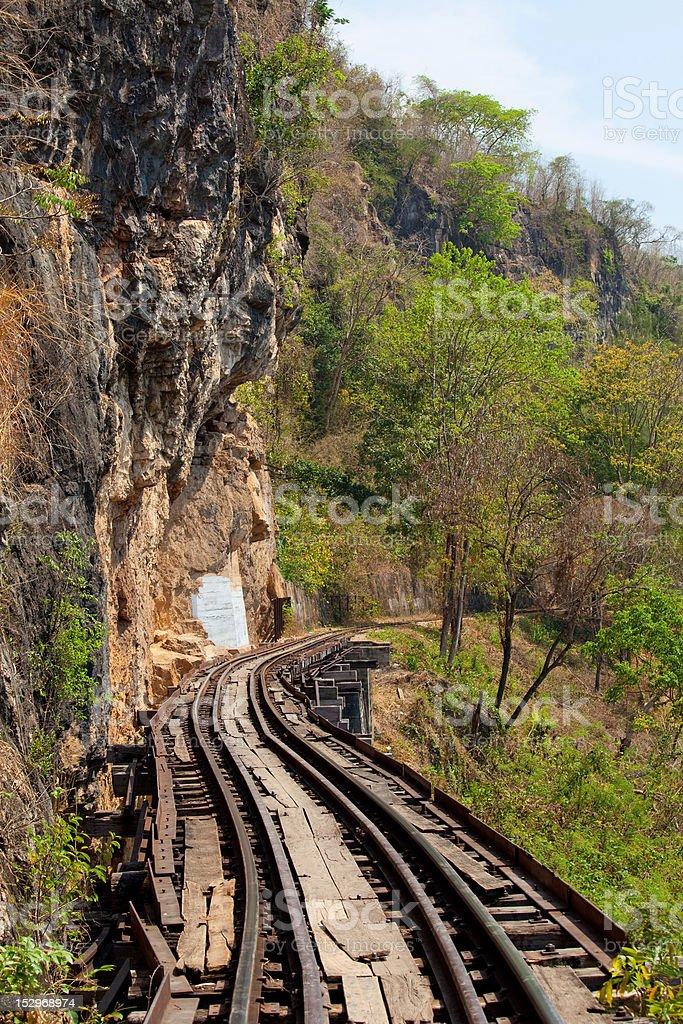 Death Railway royalty-free stock photo