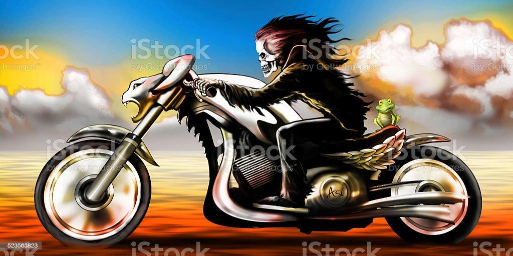 death ride stock photo