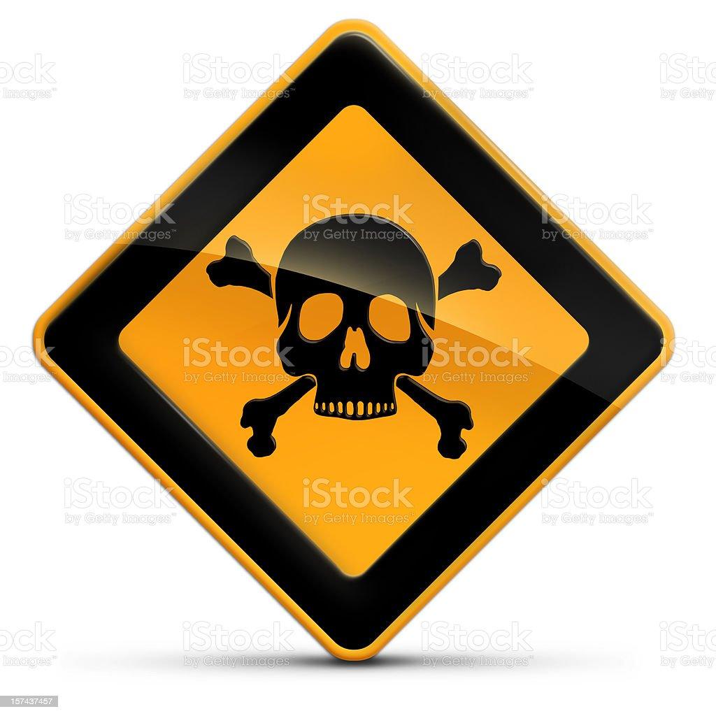 death risk alert sign stock photo