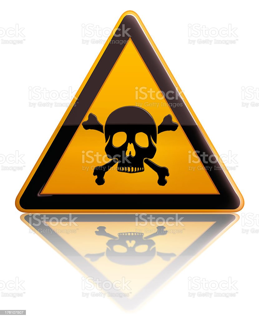 death risk sign stock photo