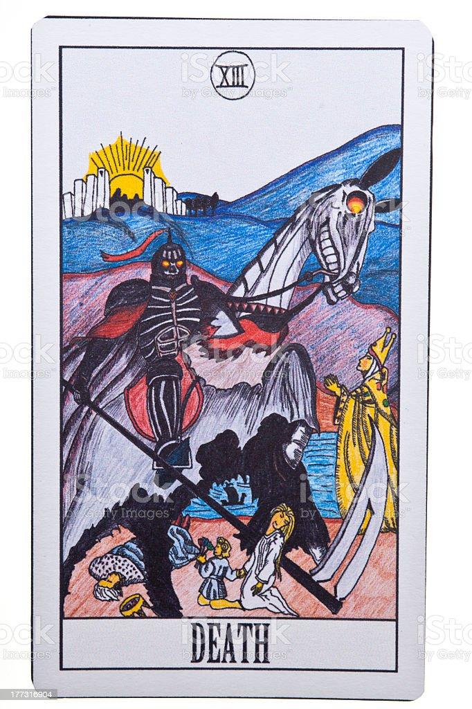 Death tarot card on Isolate Background stock photo