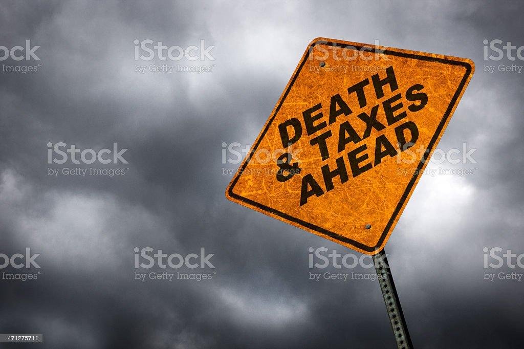 Death & Taxes stock photo
