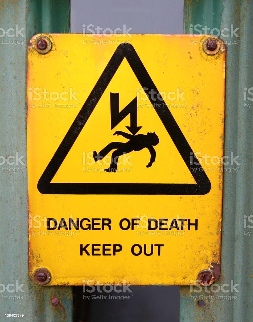Death Threat royalty-free stock photo