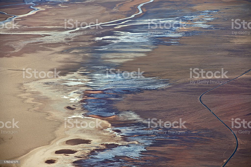 Death Valley Abstract Landscape USA royalty-free stock photo