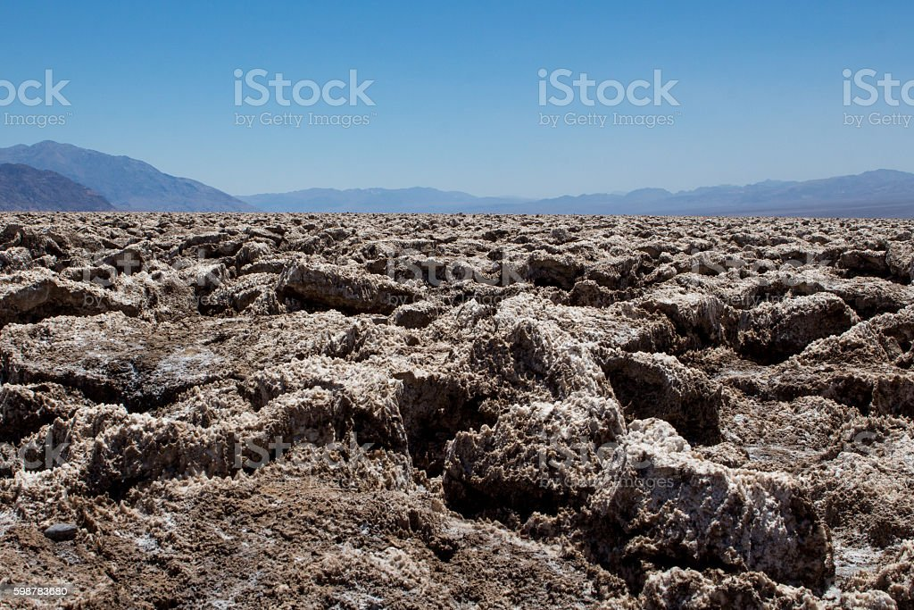 Death Valley and Rocks Made of Salt Crystals stock photo