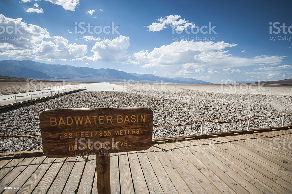 death valley bad water basin stock photo