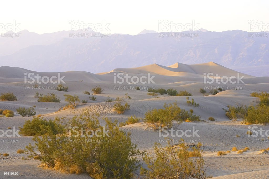 Death Valley Dunes stock photo
