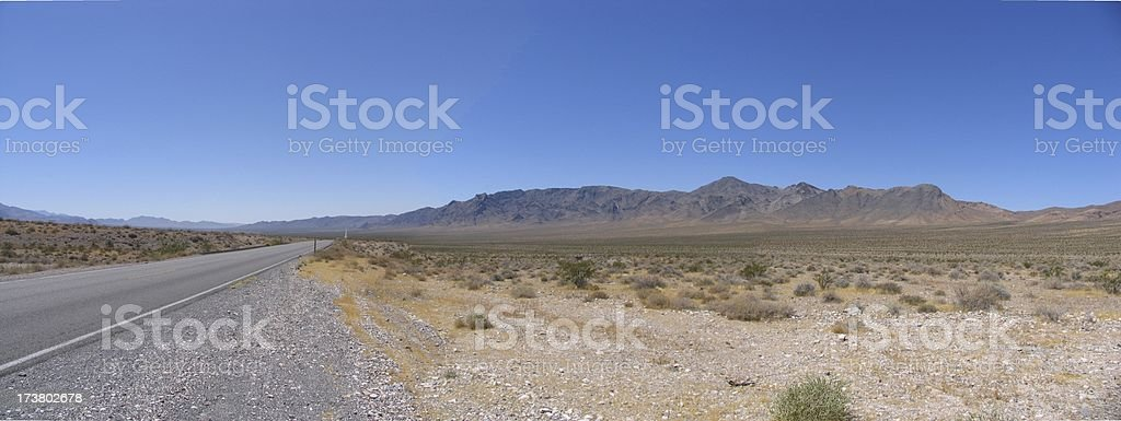 Death valley - Highway 190 panorama stock photo