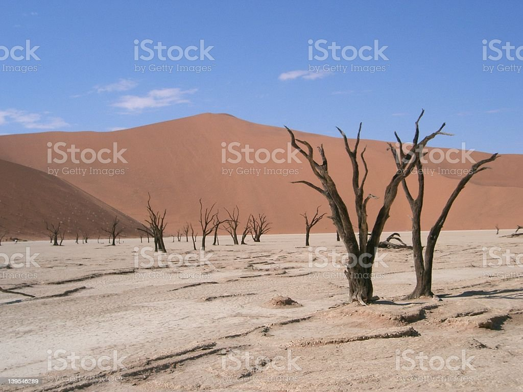 Death Valley in Namibia stock photo