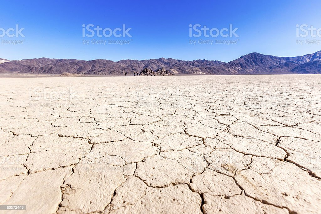 Death Valley Lakebed stock photo
