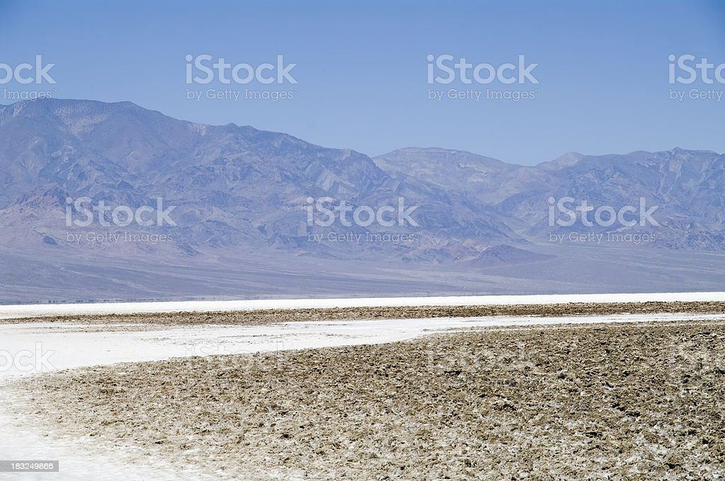 Death Valley National Park: Badwater Basin stock photo