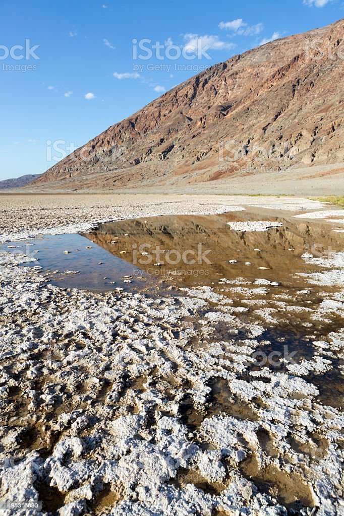 Death Valley National Park : Badwater Basin stock photo