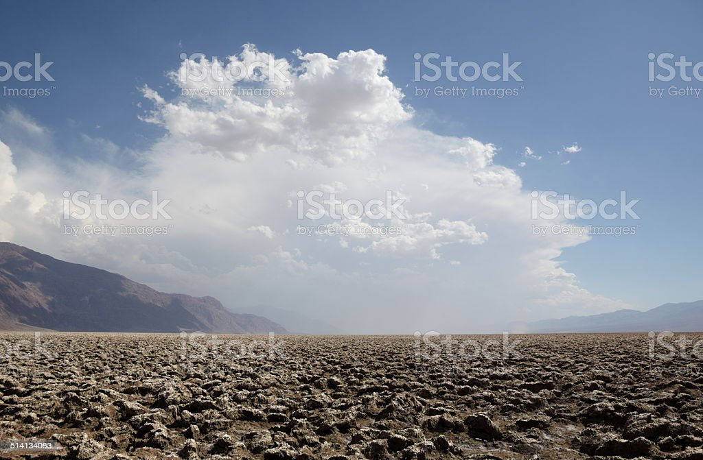 Death Valley National Park : The Devil's Golfcourse stock photo