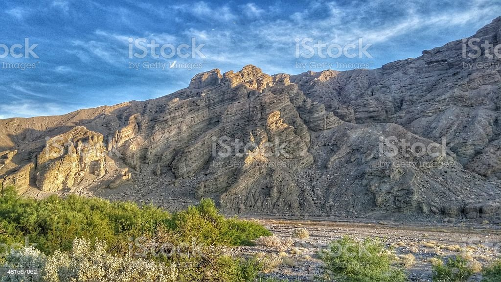 Death Valley National Park Volcanic Mountain Landscape, California stock photo