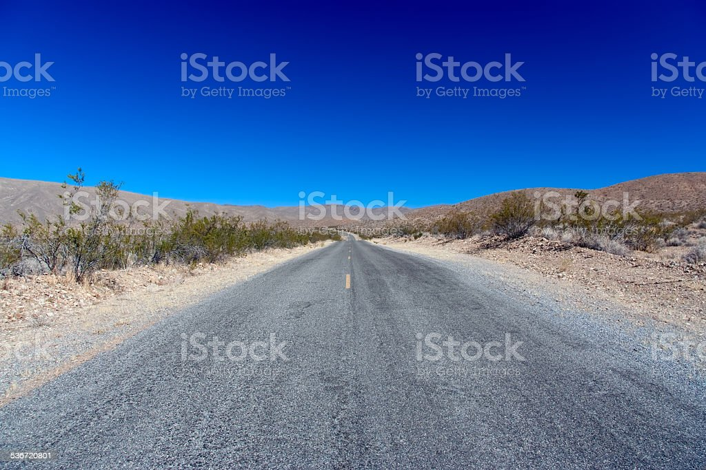 Death Valley NP: Endless Road stock photo