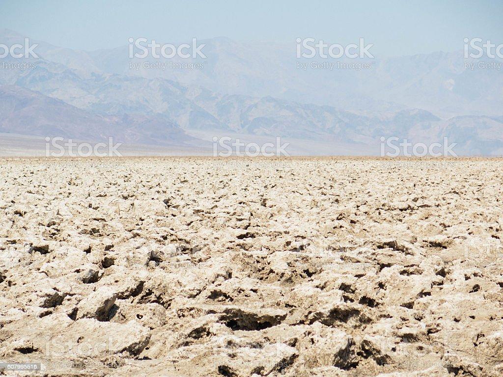 Death Valley Salar stock photo