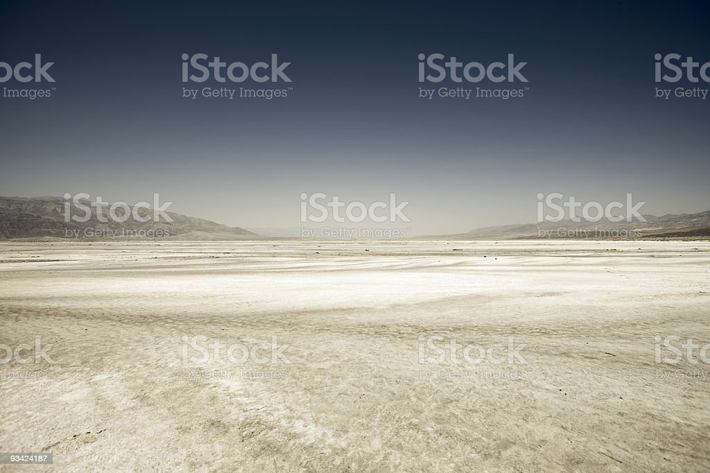 Death Valley Salt Hollow royalty-free stock photo