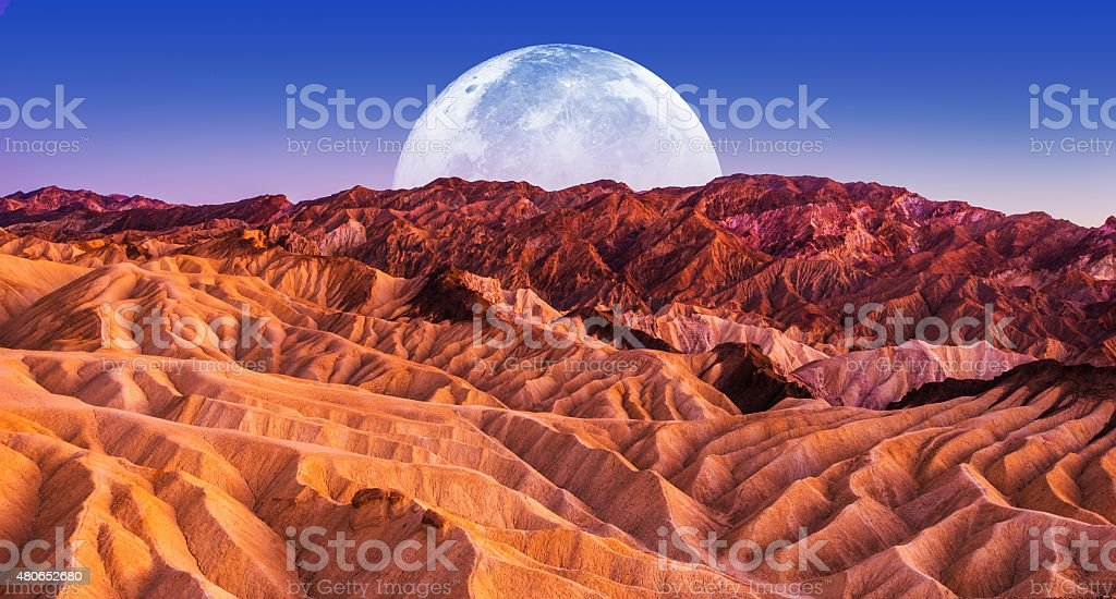 Death Valley Scenic Night stock photo