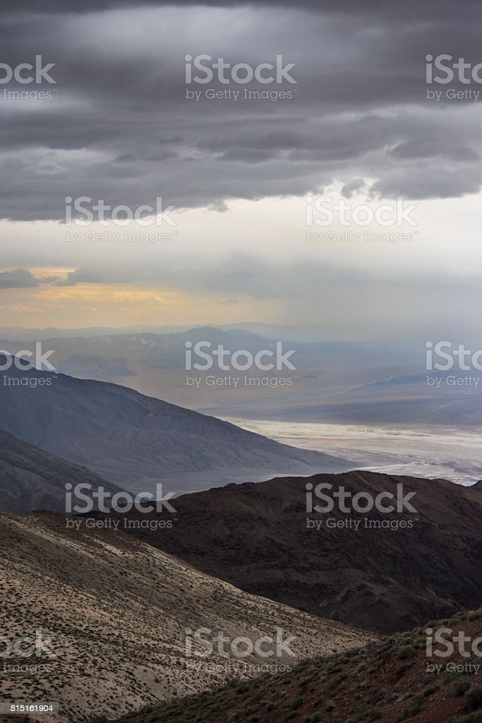 Death Valley Storm At Dante's View stock photo
