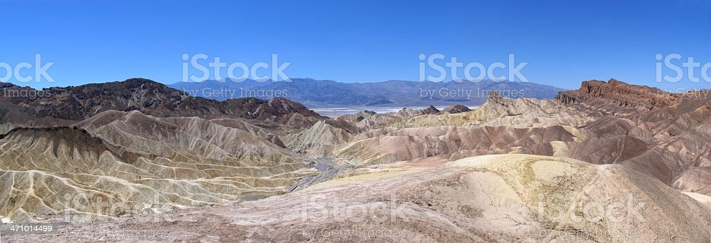 Death Valley - Zabriskie Point Panorama stock photo