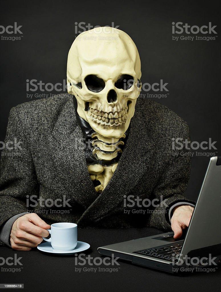 Death walks in Internet royalty-free stock photo