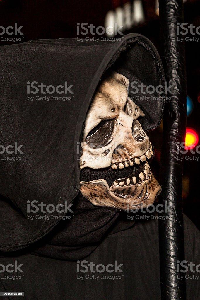 Death with scythe stock photo