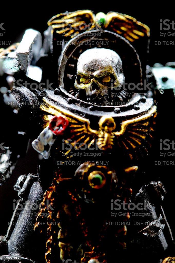 Deaths Head Warrior stock photo