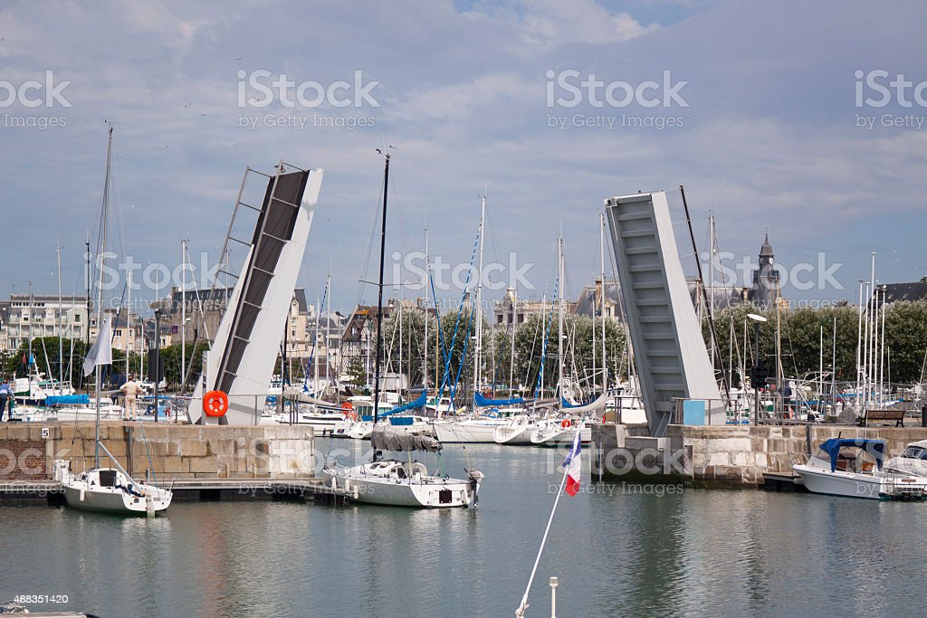 Deauville Harbour stock photo