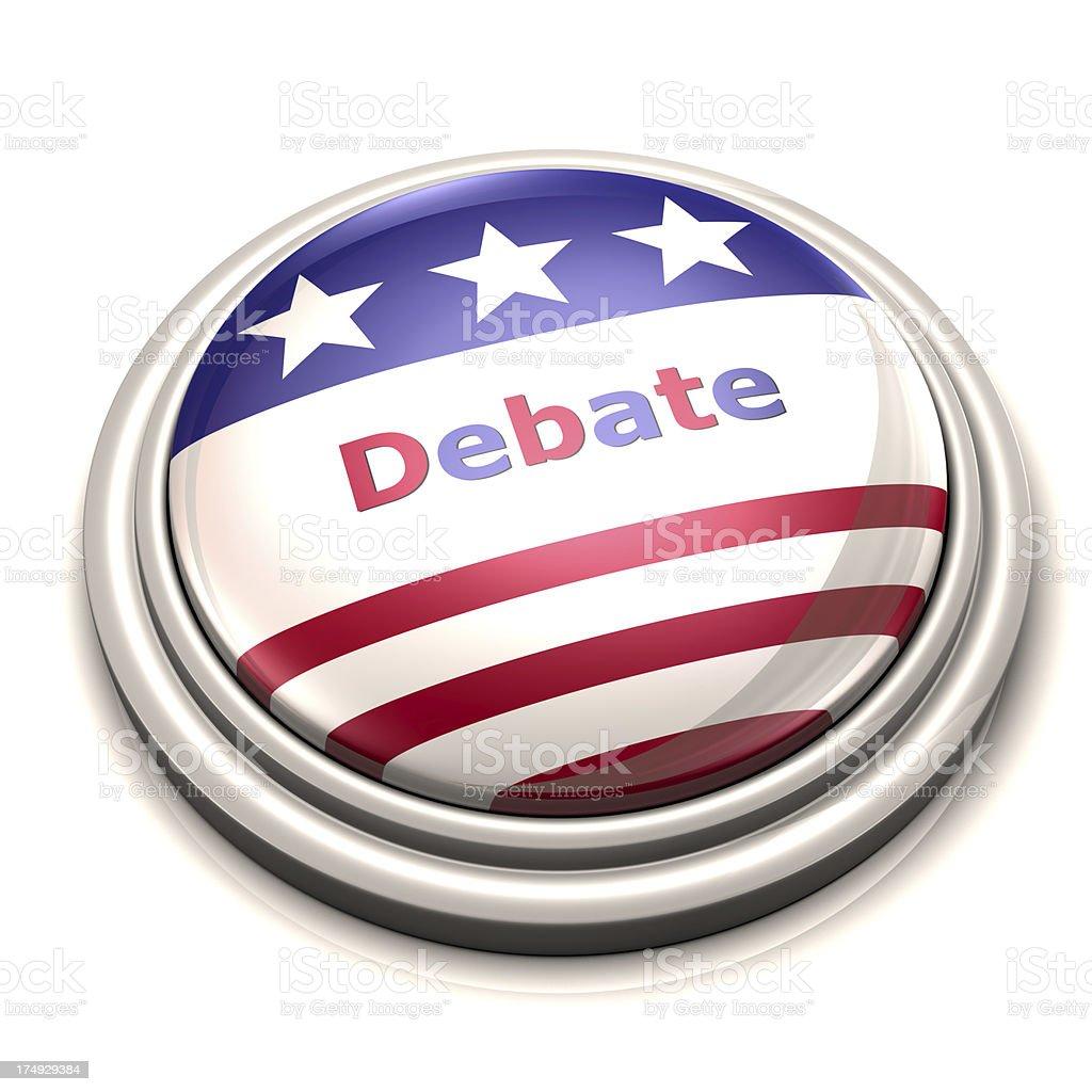 Debate Button stock photo