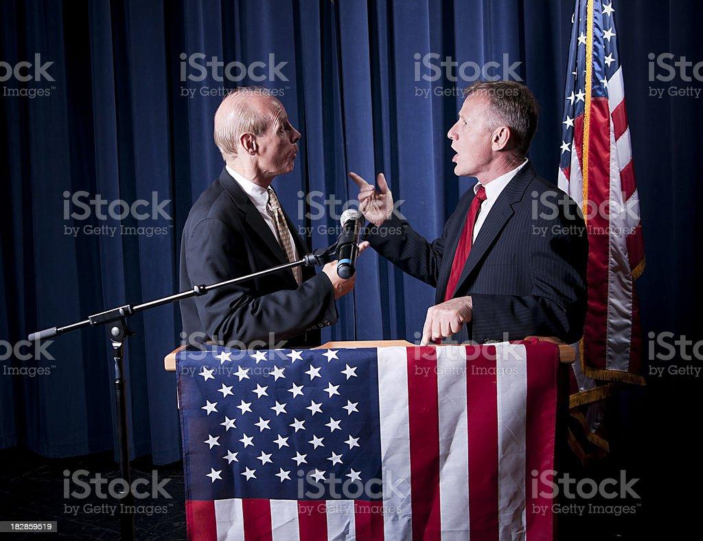 Debating Politicians royalty-free stock photo