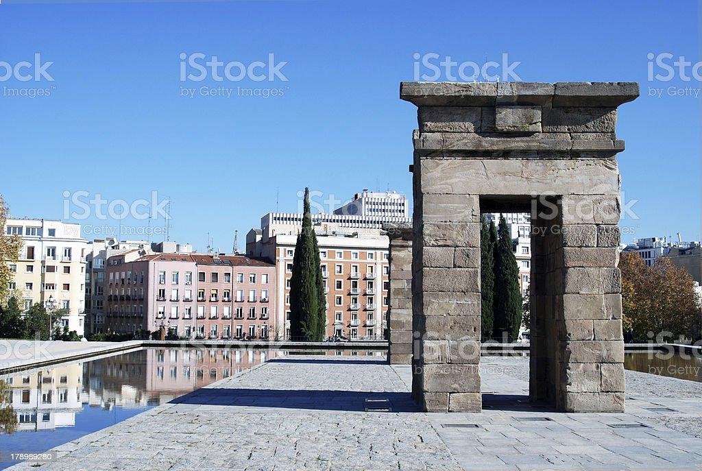 Debod Temple In Madrid Spain royalty-free stock photo