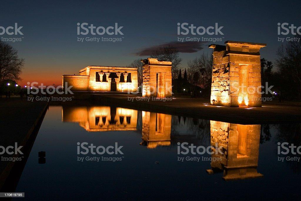 Debod's temple in Madrid, Spain royalty-free stock photo