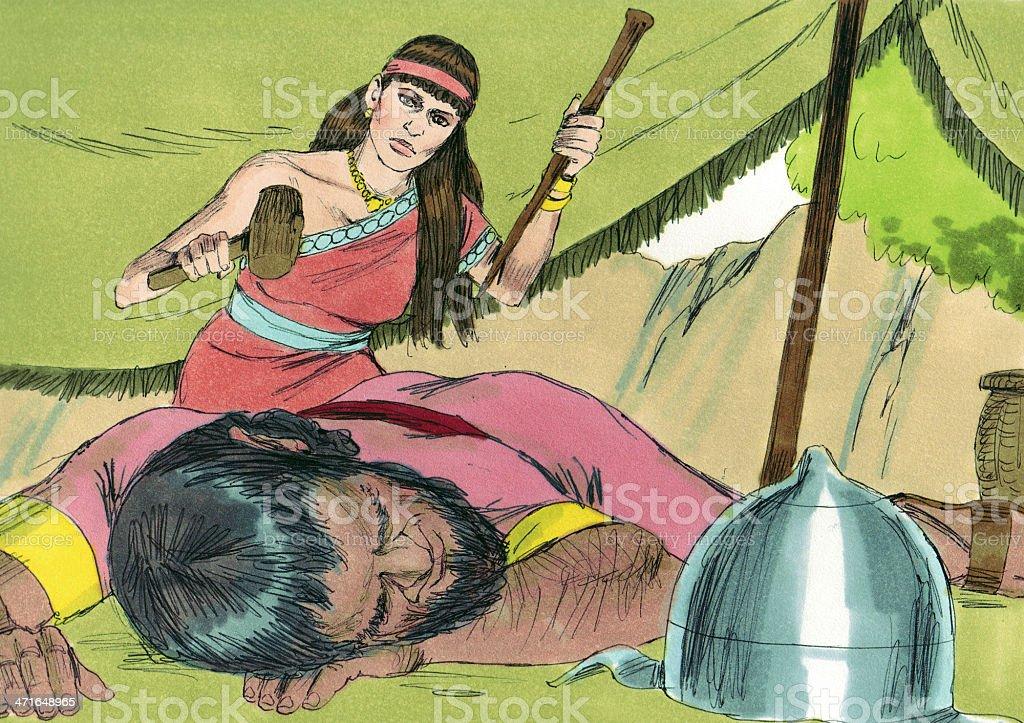 Deborah--Jael Kills Sisera stock photo