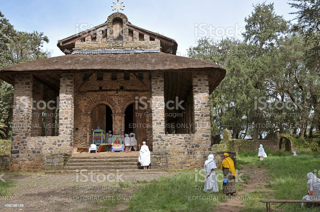Debre Birhan Selassie Church, Ethiopia royalty-free stock photo
