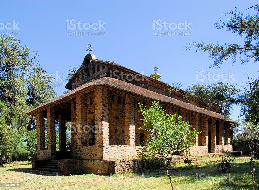 Debre Birhan Selassie Church in Gondar, Ethiopia stock photo
