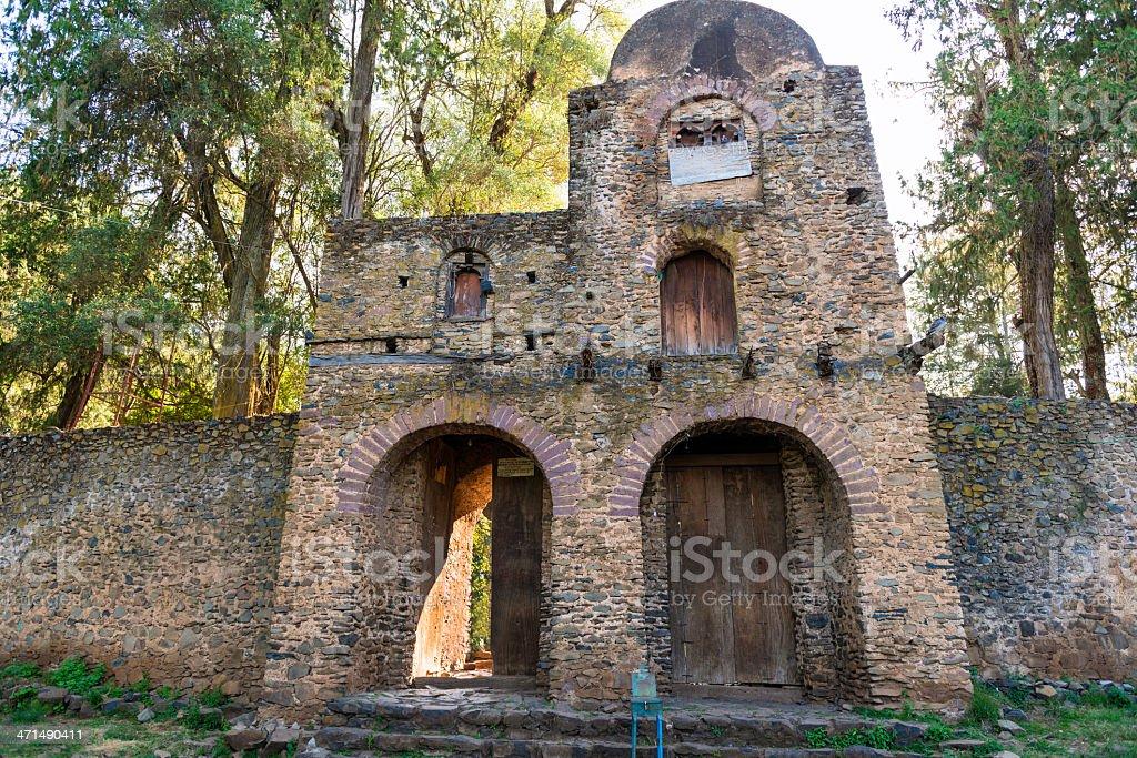 Debre Birhan Selassie Church in Gondar stock photo